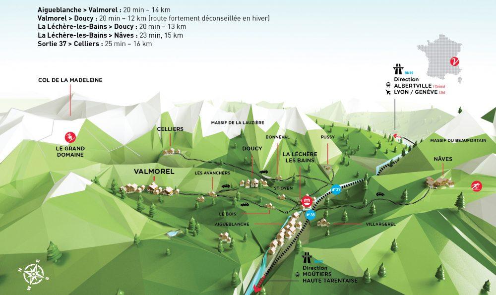 Plan d'accès à Valmorel