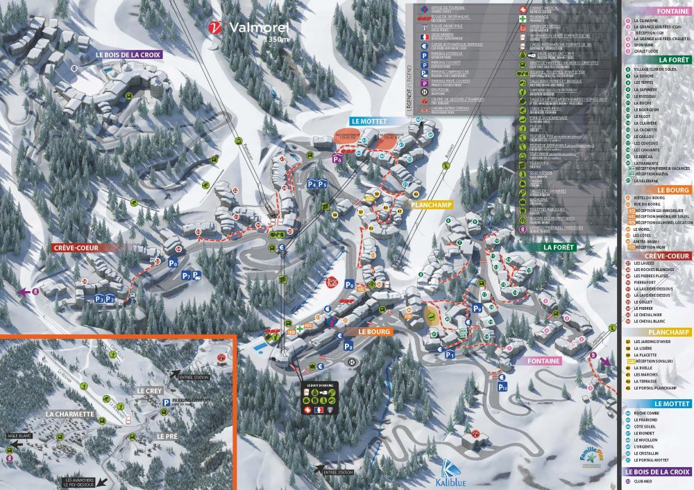 Plan de la station de Valmorel
