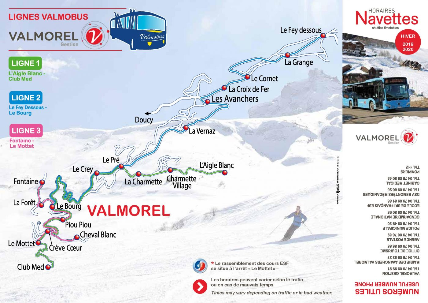 Horaires navette valmobus hiver 2019 2020 2