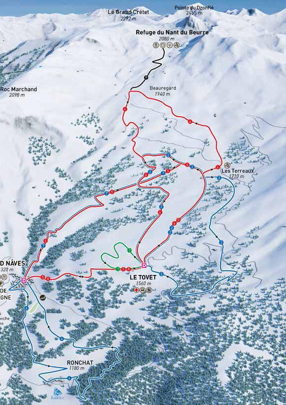 maison de la montagne naves savoie domaine nordique plan itineraires raquettes