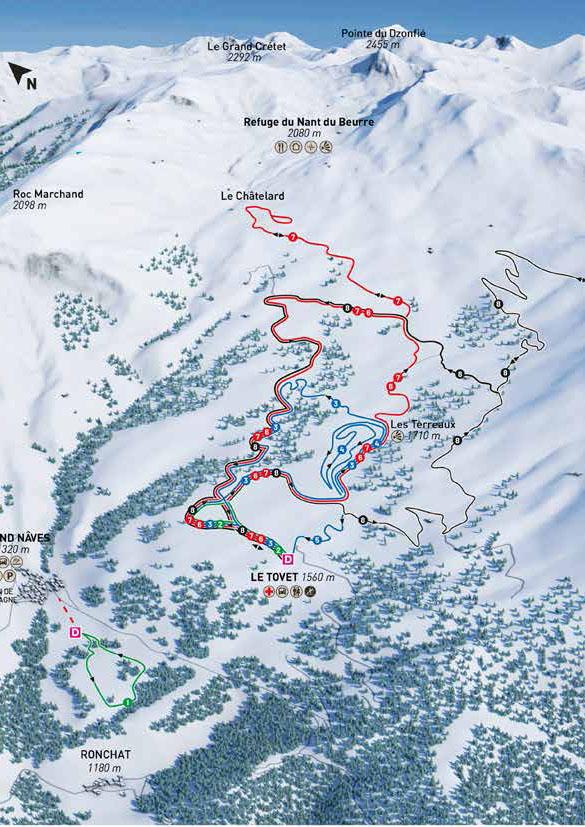 maison de la montagne naves savoie domaine nordique plan itineraires ski de fond
