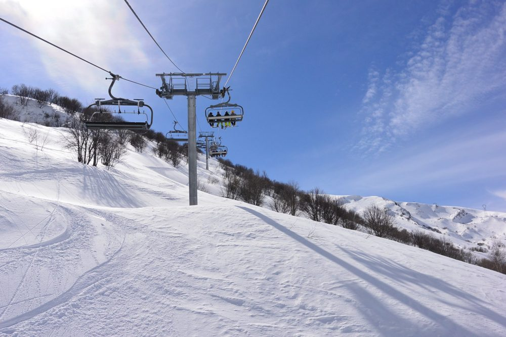Col de la madeleine hiver