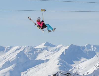 Nouveautés activité sensation tyrolienne hiver valmorel