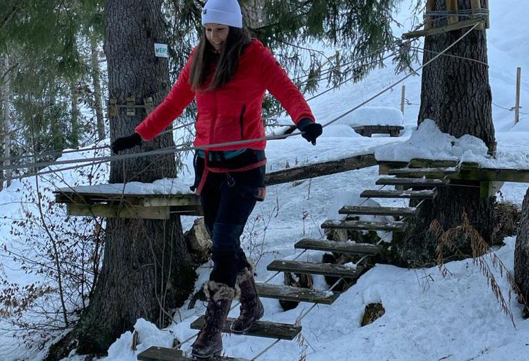 Parc accrobranche Valmo'branch hiver valmorel