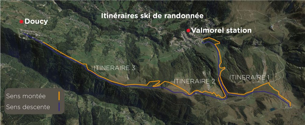 PLAN ITINERAIRES Ski de randonnee fevrier 2021 OK