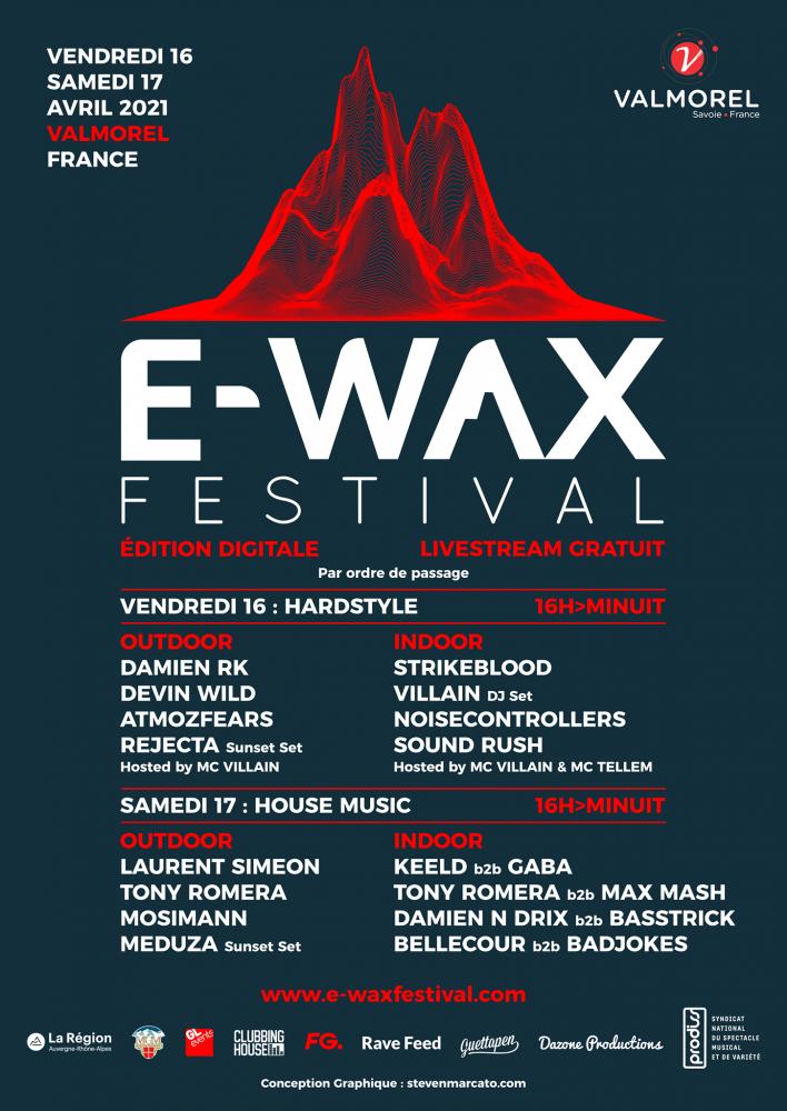 Line up E-wax festival Valmorel